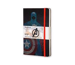 Moleskine The Avengers Limited Edition Notebook Large Ruled Hard - Captain America