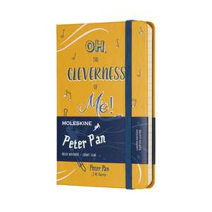 Moleskine Peter Pan Limited Edition Peter Orange Yellow Pocket Ruled Notebook Hard