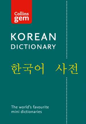 Collins Gem English - Korean Dictionary