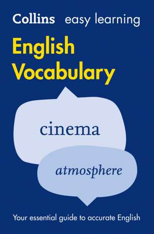 Easy Learning English Vocabulary de  Collins Dictionaries