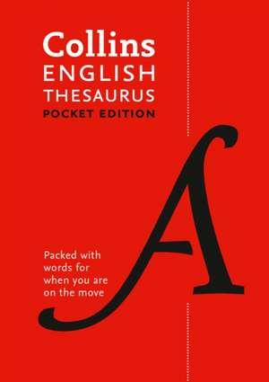 Collins Pocket - Collins English Thesaurus:  Pocket Edition de Collins Dictionaries