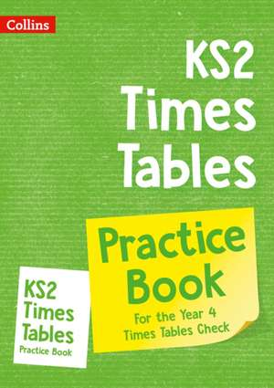 KS2 Times Tables Practice Book de Collins KS2