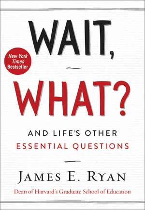 Wait, What?: And Life's Other Essential Questions de James E. Ryan