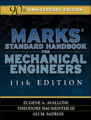 Marks' Standard Handbook for Mechanical Engineers de Eugene Avallone
