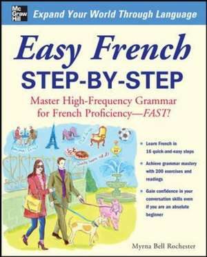 Easy French Step-by-Step de Myrna Bell Rochester