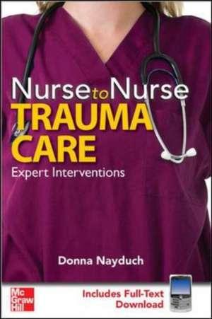 Nayduch, D: Trauma Care