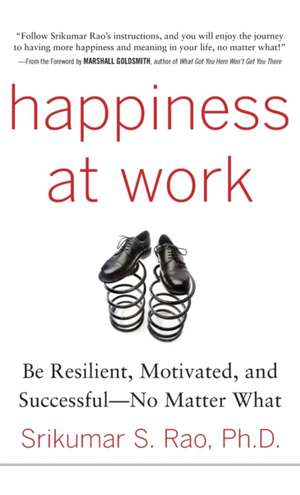 Happiness at Work: Be Resilient, Motivated, and Successful - No Matter What de Srikumar Rao