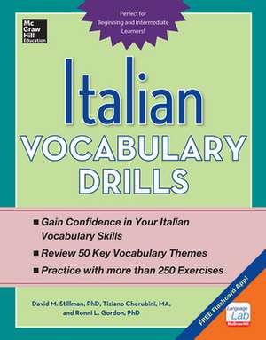 Italian Vocabulary Drills de David Stillman
