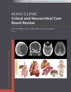 Mayo Clinic Critical and Neurocritical Care Board Review imagine