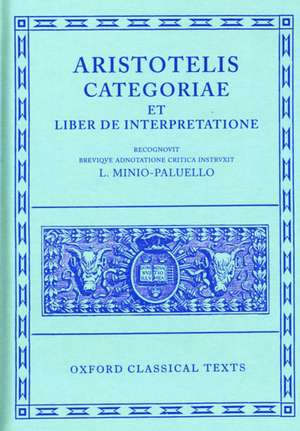 Aristotle Categoriae et Liber de Interpretatione