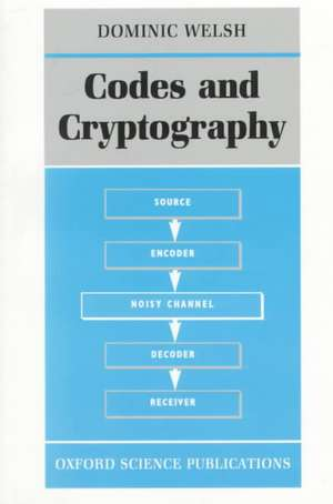 Codes and Cryptography de Dominic Welsh