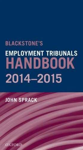 Blackstones Employment Tribunals Handbook 2014-15
