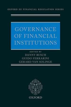 Governance of Financial Institutions de Danny Busch