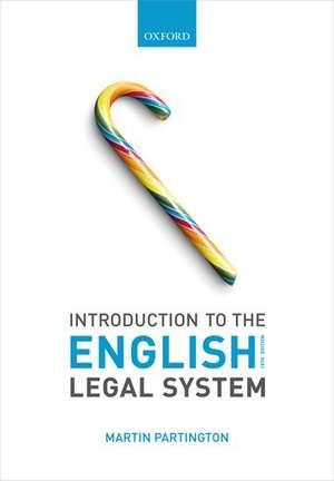 Introduction to the English Legal System de Martin Partington