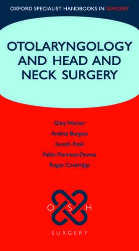 Oxford Handbook Otolaryngology and Head and Neck Surgery imagine