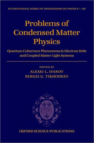 Problems Of Condensed Matter Physics
