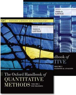 The Oxford Handbook of Quantitative Methods, Two-Volume Set de Todd Little