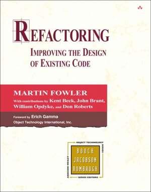 Refactoring: Improving the Design of Existing Code de Kent Beck