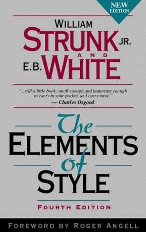 The Elements of Style de Jr. Strunk, William