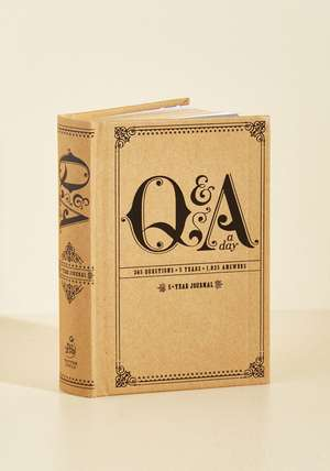 Q & A a Day:  5-Year Journal de Potter Style