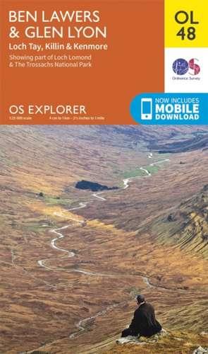 Ben Lawers & Glen Lyon, Loch Tay, Killin & Kenmore de  Ordnance Survey