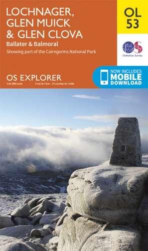 Lochnagar, Glen Muick & Glen Clova 1 : 25 000 de  Ordnance Survey