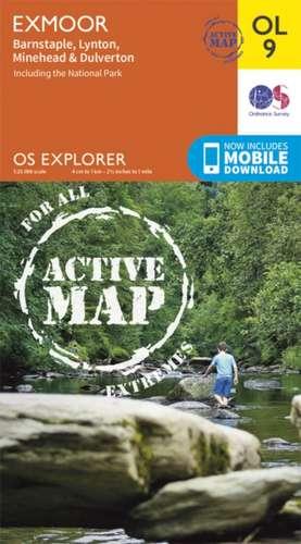 Exmoor 1 : 25 000 de Ordnance Survey
