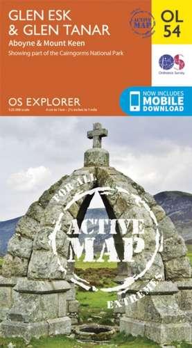 Glen Esk & Glen Tanar, Aboyne & Mount Keen de  Ordnance Survey