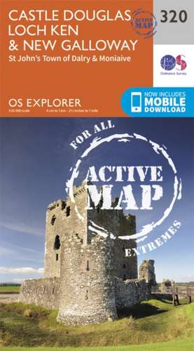 Castle Douglas, Loch Ken and New Galloway de  Ordnance Survey