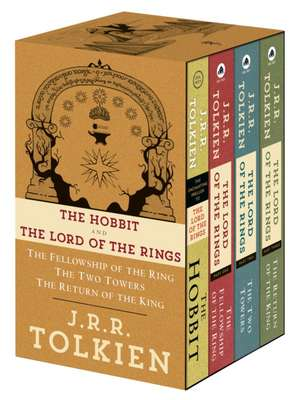 J.R.R. Tolkien 4-Book Boxed Set:  The Hobbit, the Fellowship of the Ring, the Two Towers, the Retu de J. R. R. Tolkien
