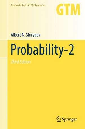Probability-2 de Albert N. Shiryaev