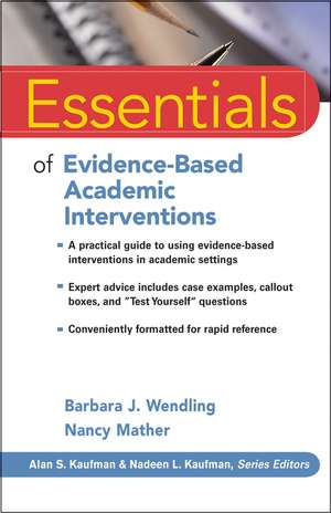 Essentials of Evidence–Based Academic Interventions imagine