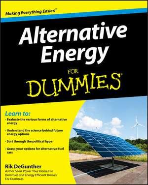 Alternative Energy For Dummies de Rik DeGunther