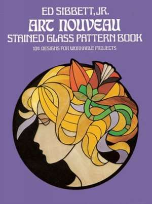 Art Nouveau Stained Glass Pattern Book imagine