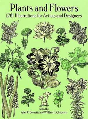 Plants and Flowers:  1761 Illustrations for Artists and Designers de Bassette