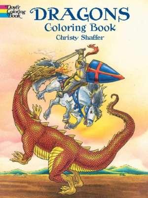 Dragons Coloring Book de Christy Shaffer