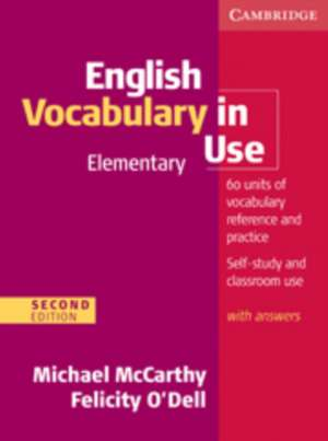 English Vocabulary in Use Elementary with Answers de Michael McCarthy