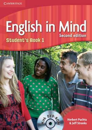 English in Mind Level 1 Student's Book with DVD-ROM de Herbert Puchta