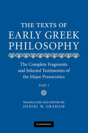 The Texts of Early Greek Philosophy