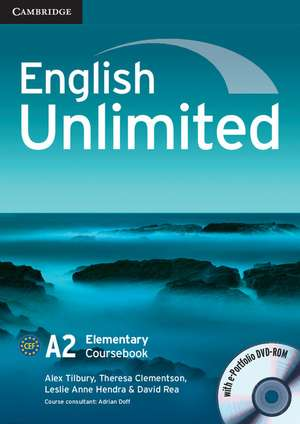 English Unlimited Elementary Coursebook with e-Portfolio imagine