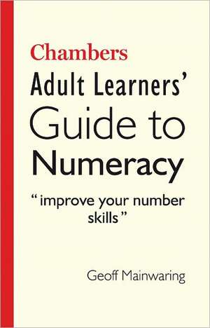 Chambers Adult Learners' Guide to Numeracy imagine