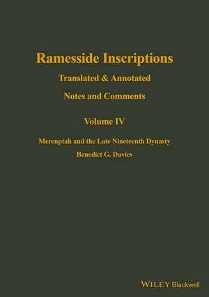 Ramesside Inscriptions