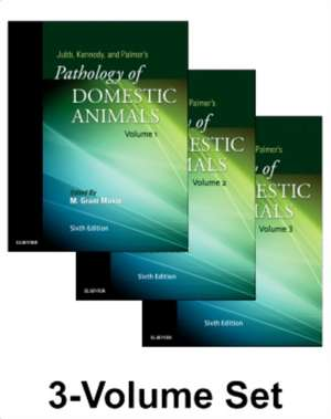Jubb, Kennedy & Palmer's Pathology of Domestic Animals: 3-Volume Set imagine
