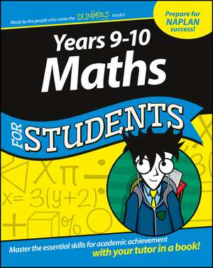 Years 9 – 10 Maths For Students