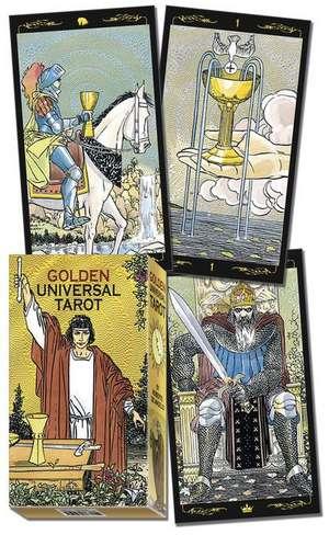 Golden Universal Tarot Deck de Lo Scarabeo