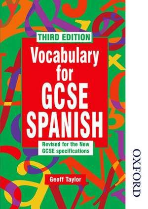 Vocabulary for Gcse Spanish - 3rd Edition