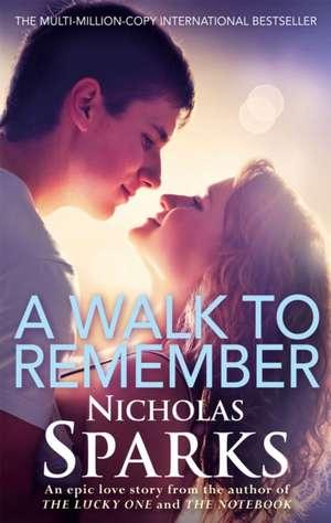 A Walk to Remember de Nicholas Sparks