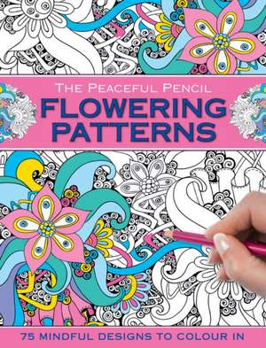 Carte de colorat, modele florale