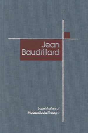 Jean Baudrillard de Mike Gane
