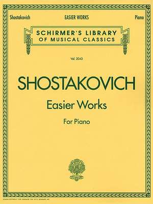Easier Works: Schirmer Library of Classics Volume 2043 Piano Solo de Dmitri Shostakovich